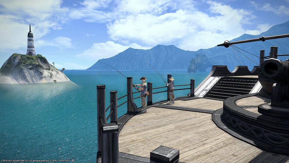 釣り場:ロータノ海沖合:船首(...