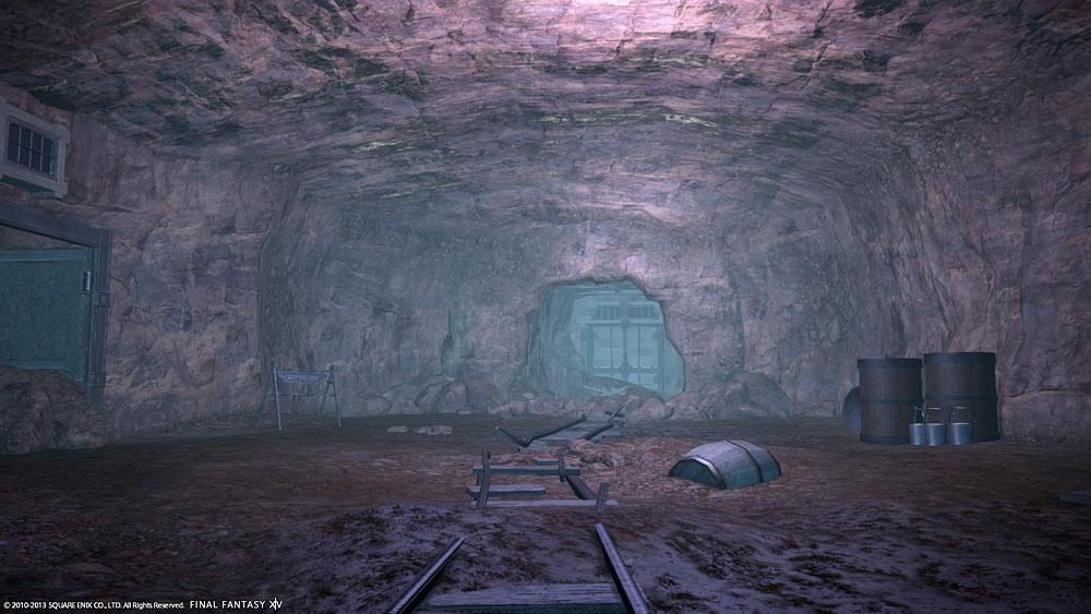 再開発区E1坑道